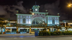 Outside Central Ferry Pier on Hong Kong Island timelapse hyperlapse for its Stock Footage