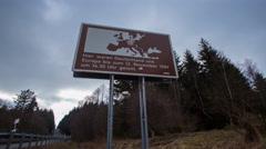 4k Ex German-German borderline Harz mountain range Stock Footage