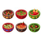 Traditional Mexican Soup Collection - stock illustration