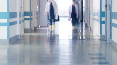 Medical Staff at the Hospital's Corridor Stock Footage