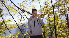 Man on phone showing directions 4K Stock Footage