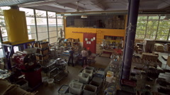 Coffee Roastery Workers Moving Time-lapse Stock Footage