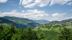Beautiful landscape of Italian South Tyrol, realtime panning video Stock Footage