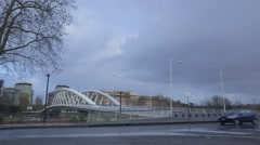 Ponte della Musica bridge Stock Footage