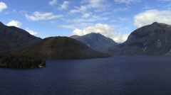 Milford Sound Fjords Sunny Scenery - stock footage