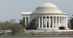 Jefferson Memorial pan Stock Footage