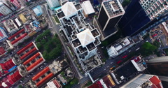Aerial view of Kuala Lumpur city in Malaysia capital, tall buildings. Cinematic Arkistovideo