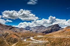 Manali-Leh road, Ladakh, India - stock photo