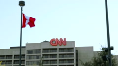 CNN Headquarters - stock footage
