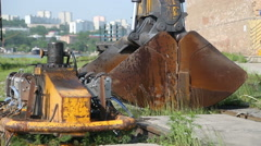 The heavy equipment Stock Footage