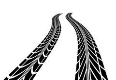 Stock Illustration of Tire tracks
