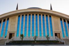 Exterior of Diyanet Mosque in Ankara city, Turkey Stock Photos
