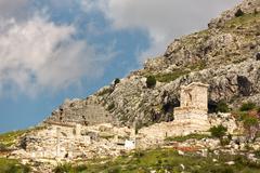 Ancient city of Sagalassos in Anatolia, Turkey - stock photo
