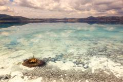 Lake Salda located in southwest of Anatolia.It is known as the deepest lake o - stock photo