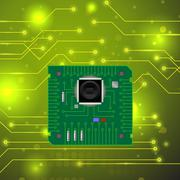 High Tech Printed Circuit Board Stock Illustration