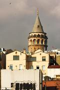 One of the symbols of Istanbul city, aesthetic and beautiful Galata Tower Stock Photos