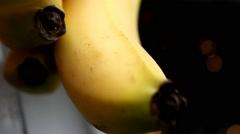 Close-up Banana - daylight - Focus 007 - stock footage