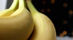 Close-up Banana - daylight - Focus 008 - stock footage