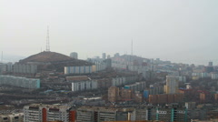 View of Vladivostok city in russia. Stock Footage