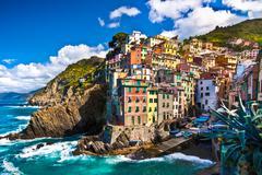 Riomaggiore fisherman village in Cinque Terre, Italy Stock Photos
