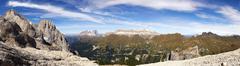 Sella mountain range, Dolomites, Alto Adige, Italy Stock Photos