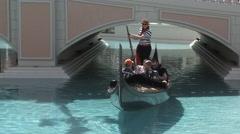 Gondola Ride At The Venetian Las Vegas Stock Footage