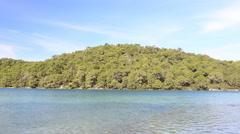 Malo Jezero, Mljet National Park, Croatia Stock Footage
