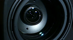 Stock Video Footage of Big Lens Camcorder