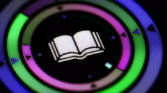 Book icon. Looping. - stock footage