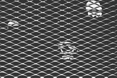 Metal fence vector illustration on a dark background Stock Illustration