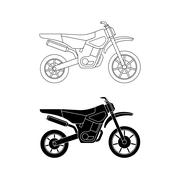 Motorcycle line icons. - stock illustration