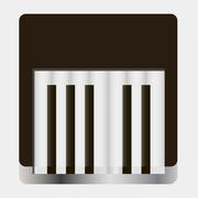 Piano Icon Isolated on White Background Stock Illustration