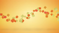 Orange 3D cubes abstract loopable background 4k (4096x2304) Stock Footage