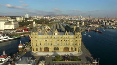 Istanbul Haydarpasa Train Station Stock Footage