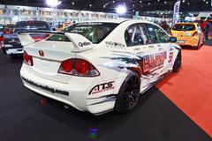 Honda Civic show at the second Bangkok international auto salon 2013 - stock photo