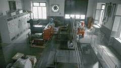 Empty engine room - stock footage