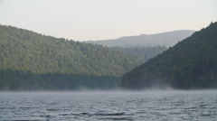 Fog above the lake Stock Footage