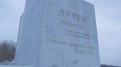 The Monument to Artyom, a Soviet Era Leader, Which is Twenty Meters High, Stock Footage