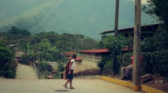 Mexican streets of small town Stock Footage
