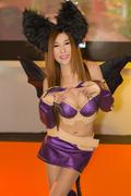 BANGKOK - OCT. 19: An unidentified Japanese anime cosplay pose in Thailand Ga Stock Photos
