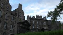 Old buildings at Greyfriars Kirkyard, Edinburgh Stock Footage