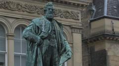 Statue of a man at Greyfriars Kirkyard, Edinburgh Stock Footage