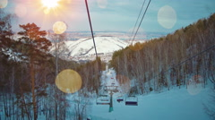 View from chair lift in mountains 4k UHD (3840x2160) Stock Footage