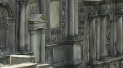 Old vaults at Greyfriars Kirkyard in Edinburgh Stock Footage