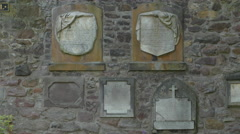 Walled tombstones at Greyfriars Kirkyard, Edinburgh Stock Footage