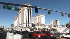 Stock Video Footage of Las Vegas Blvd At Caesars Palace