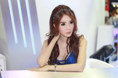 An Unidentified female presenter pose in Bangkok International Motor Show - stock photo