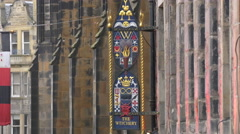 The Witchery by the Castle restaurant sign on the Royal Mile, Edinburgh Stock Footage