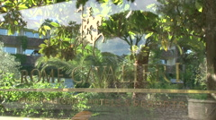 The entrance of the hotel Cavalieri Stock Footage