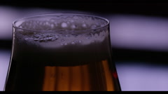 Stock Video Footage of Close-up of beer glass